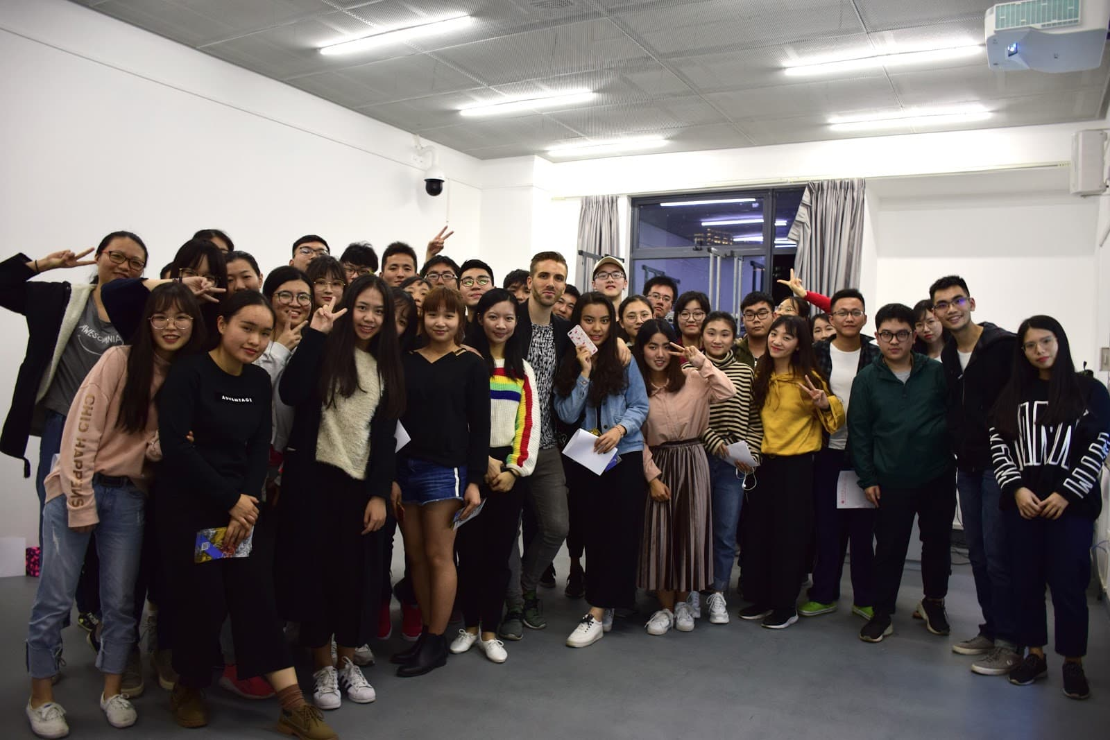 Some of ChitChatCrew's first students, in Shenzhen, China