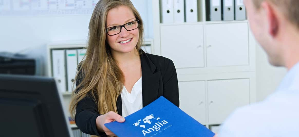 One of the Anglia Examinations team in the Netherlands