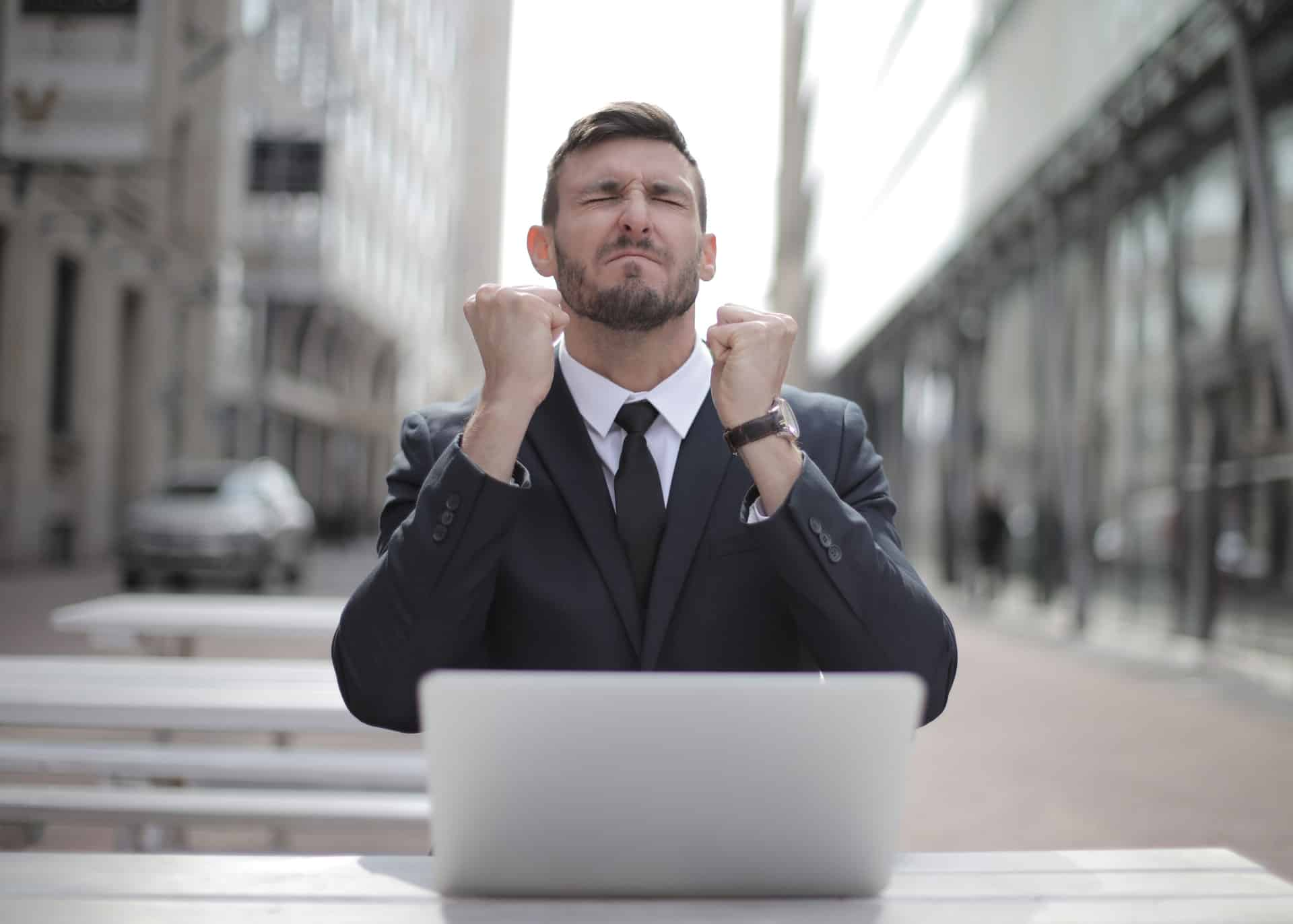 government worker excited after getting an Anglia Business English certification